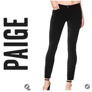 NWT Paige Verdugo Black Skinny Velvet Jeans